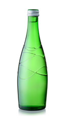 Glass bottle of mineral water