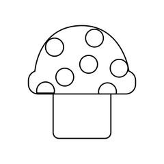 video game mushroom entertaining element play vector illustration outline image