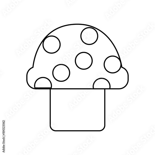 Video Game Mushroom Entertaining Element Play Vector Illustration - Video game outline