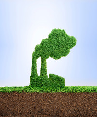 Growing eco industry concept