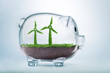 Grass growth wind turbine investment concept