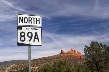 A guide sign in the beautiful town of Sedona