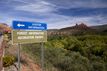 The sign leading to the Vistor Center in Sedona