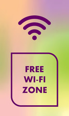 Free wifi. There is free internet vector.