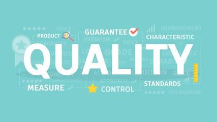 Quality concept illustration.