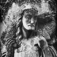 Jesus Christ - the Good Shepherd (fragment of ancient statue)