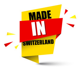banner made in switzerland