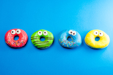 colored donuts