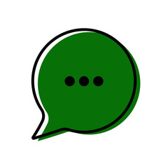 Chat icon. Dialog text