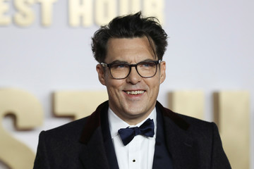 Director Joe Wright arrives at the UK premiere of Darkest Hour in London