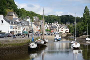 Foto auf Acrylglas Port Pont Aven, Bretagne, Frankreich