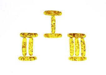 pedestal of Roman numerals