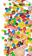 Mixed colorful fruit bonbons