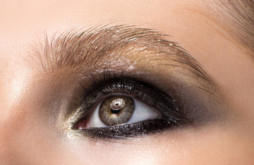 Beautiful female eye close up.
