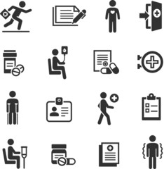 Set of medical symbols