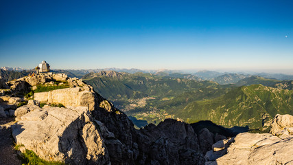 Valsassina as seen from Grigna Meridionale Summit