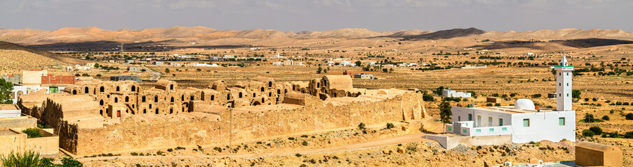 View of Ksar Ouled Abdelwahed at Ksour Jlidet village in South Tunisia