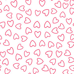 Heart seamless pattern. For prints, greeting cards, invitations for holiday, birthday, wedding, Valentine's day, party.