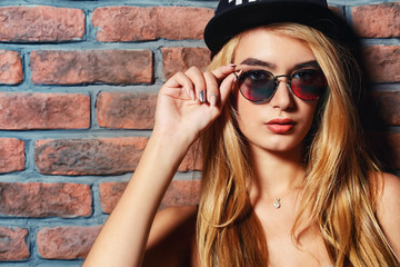 baseball cap and sunglasses