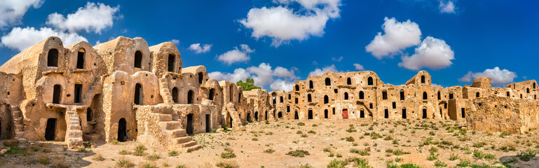 Photo sur Plexiglas Tunisie Ksar Ouled Abdelwahed at Ksour Jlidet village in South Tunisia
