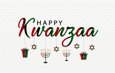 Happy Kwanzaa card or background. vector illustration.