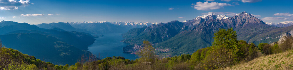 Lake Como as seen from hikitg trail to Corni di Canzo