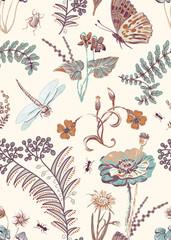 Fotobehang Botanisch Floral seamless pattern, vector clipart