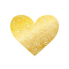Hochzeit Herz Ornament gold