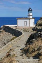 Spain Costa Brava Cala Nans lighthouse, Mediterranean sea, Cadaques, Cap de Creus, Alt Emporda, Catalonia