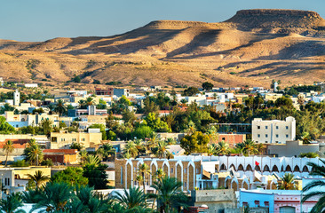 Panorama of Tataouine, a city in southern Tunisia