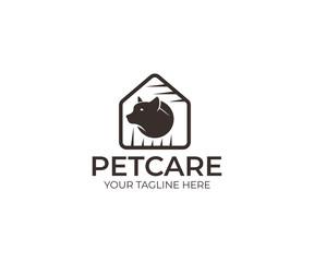 Dog Care Logo Template. Pet Vector Design. Animal Illustration