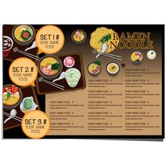 menu ramen noodle japanese food template design