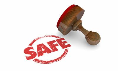 Safe Stamp Secure Certified Verified Guarantee 3d Illustration