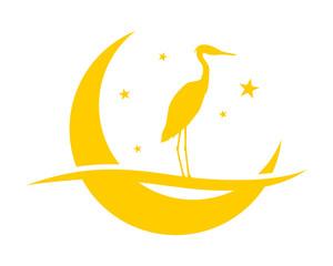 crescent moon stork