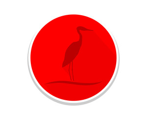 red stork silhouette