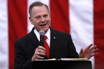 Republican candidate for U.S. Senate Judge Roy Moore speaks during a campaign rally in Midland City