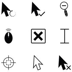 cursor icon set