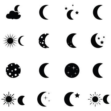 moon icon set