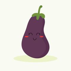 cute eggplant vector
