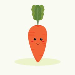 cute carrot vector
