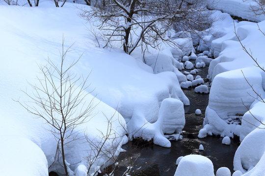 雪景色 Snowy landscape in japan