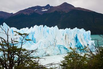 Glacier Perito Moreno and mountains