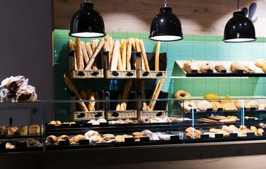 modern bakery counter