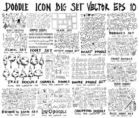 MEGA set of doodles vector. Super collection of christmas, ribbon, frame, heart, school, font, arrow, summer, tree, business, sport, party, info, shopping, bubble, music, home eps10