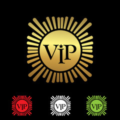 VIP member Icon. Vector Illustration on black background
