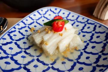 Close up Korean traditional food - white kimchi