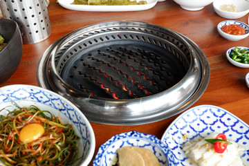 Ready-to-use grilling stove for Korean style BBQ