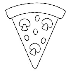 Pizza italian food symbol