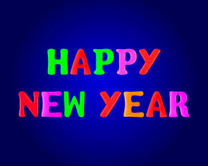 Happy New Year banner. 3d. Stock - Vector illustration