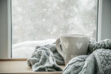 Photo sur Aluminium The Winter cozy hot chocolate